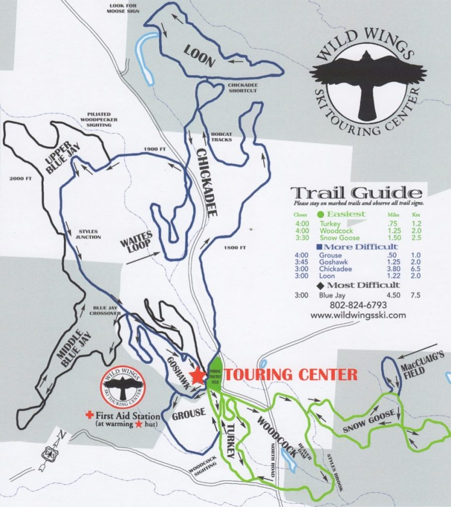 Wild Wings Trail Map